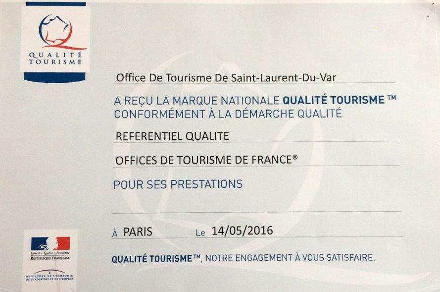 La marque qualite tourisme - Office tourisme saint laurent du var ...